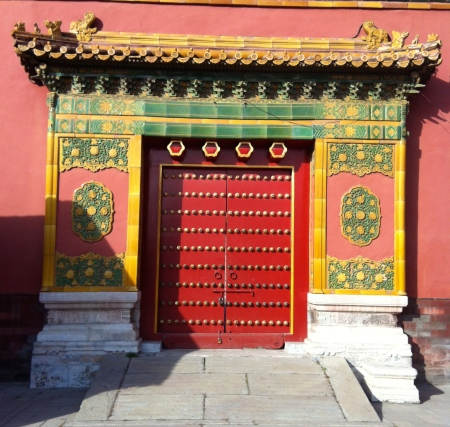 Doors are a symbol of hope; opportunity; a passage from one state or world to another; an entrance to a new life. In India, divinities are carved on door jams, indicating the deity through which man enters the Supreme Presence. This Chinese door in the Forbidden City is particularly beautiful.