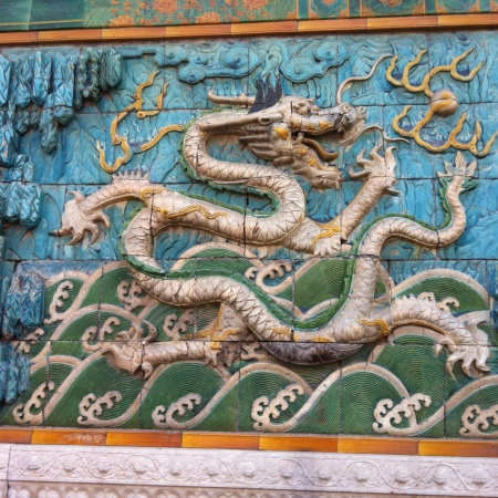 Eight dragons symbolized the power of the emperor.