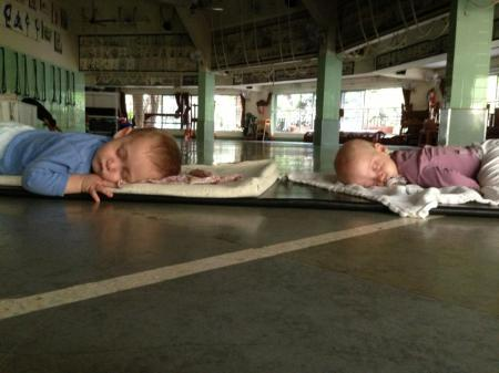 Galia Yogawalla took this photo last July on her yearly visit to RIMYI of her twins Amitai & Leela, 8 months at the time.