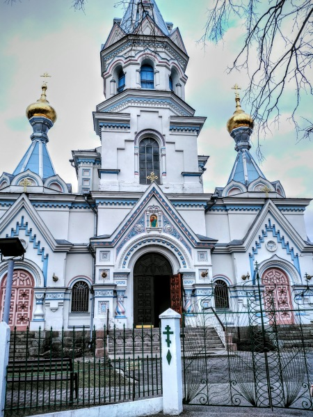 Saints Boris and Gleb Cathedral in Daugavpils is the largest Orthodox church in Latvia.